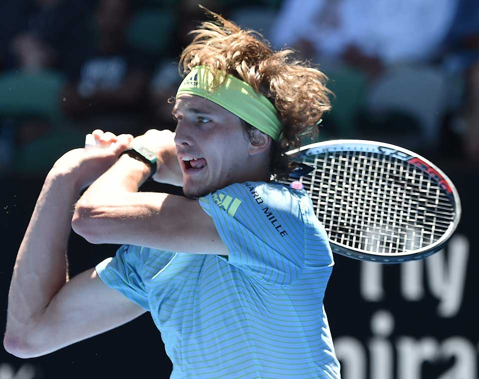 Germany's Alexander Zverev in Melbourne